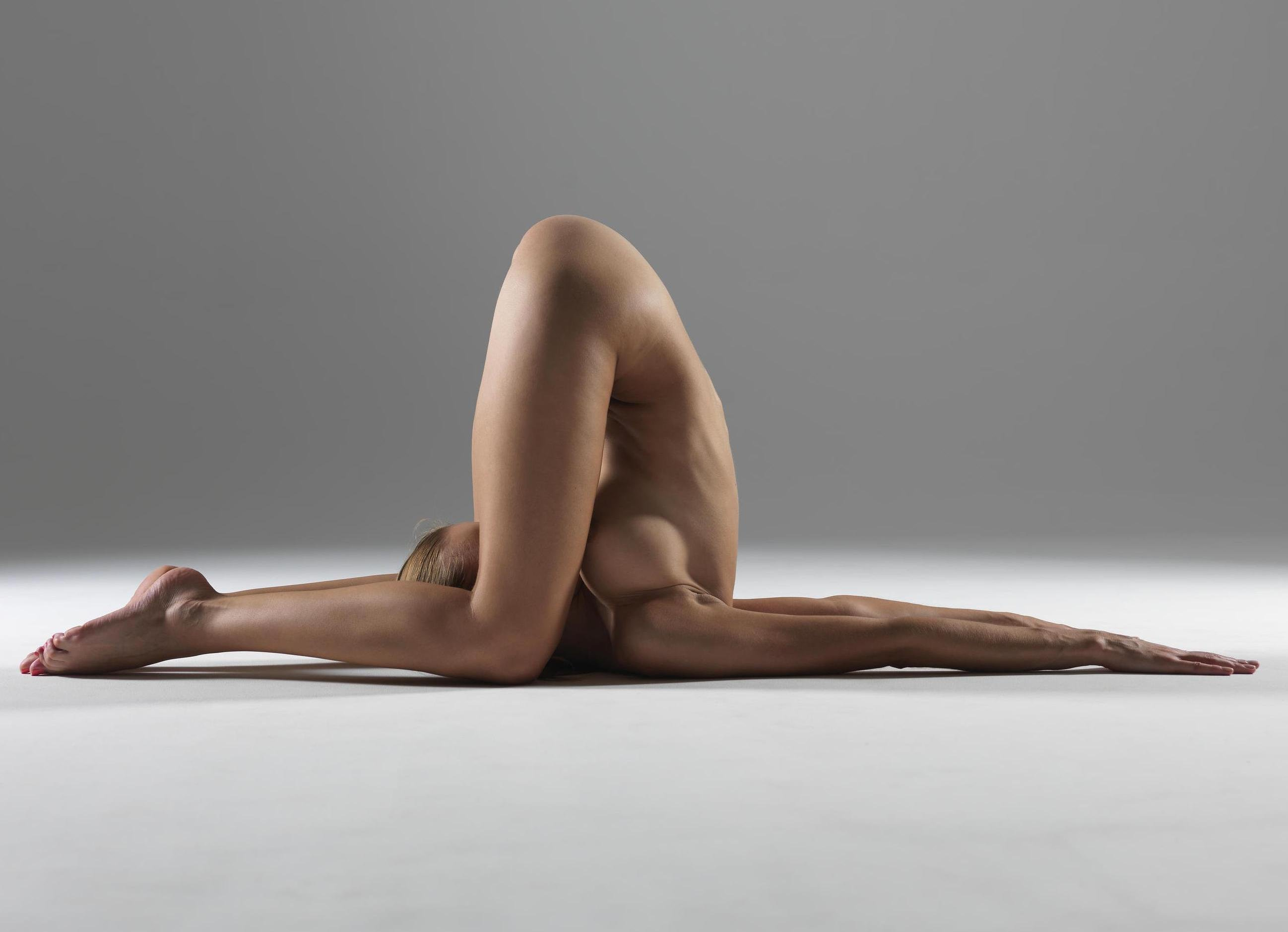 Artistic nude models exercising
