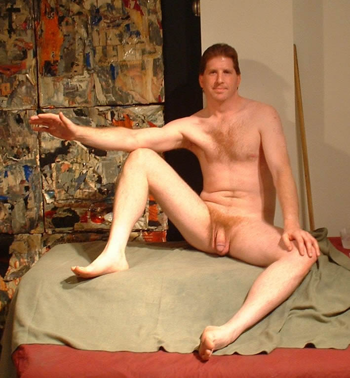 Nude male art class model topic